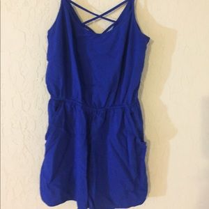 Thin strap romper with pockets